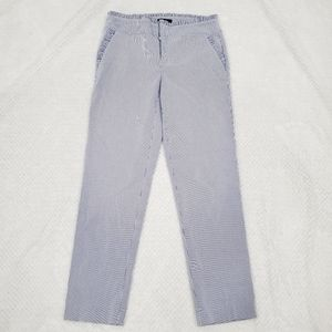 Lord & Taylor/ Striped White-Blue Pants/ Size 4